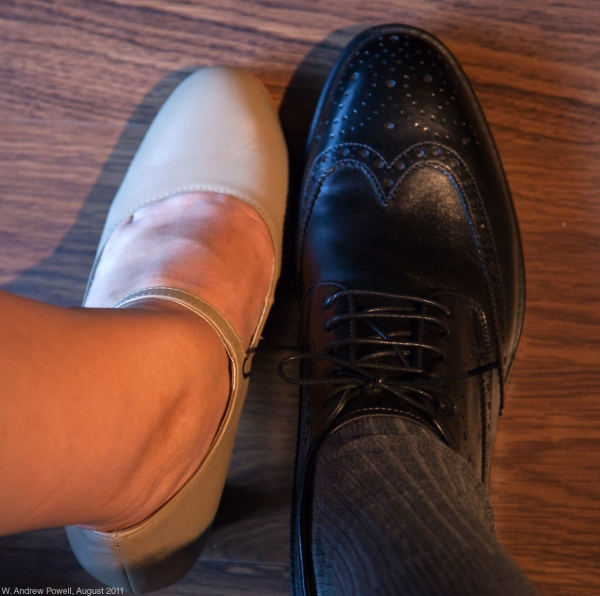 First snapshot - our wedding shoes