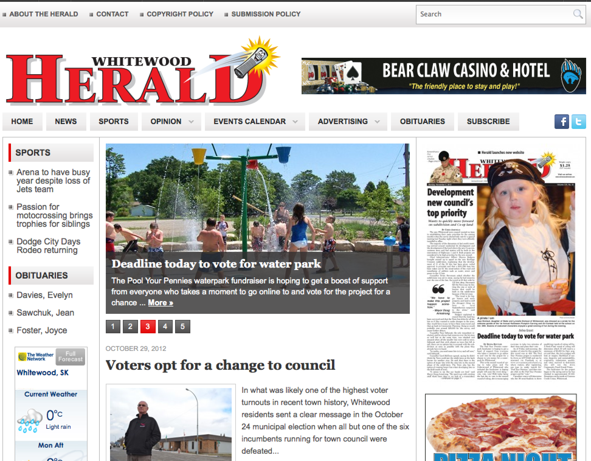 The new Whitewood Herald
